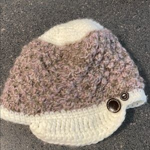 Adorable Turtle Fur Winter Visor Beanie